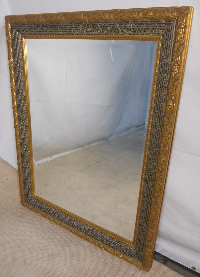 Heavy Gilt Ornate Framed Hanging Wall Mirror